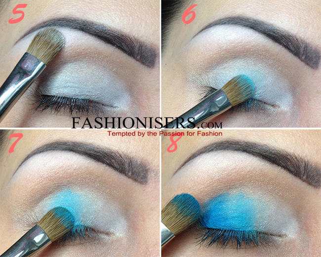 Base all over the eyelids then to create the base for your eye makeup
