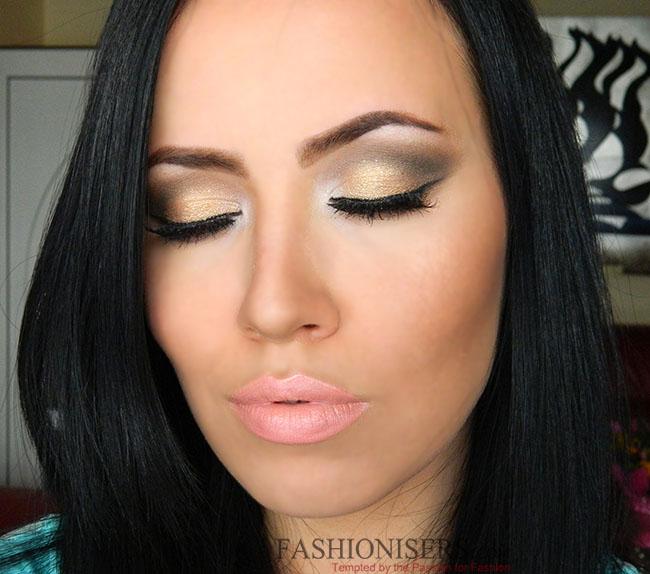 Фото макияжа глаз для брюнеток с карими глазами