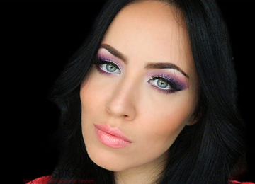 Party Makeup: Lilac Purple Smokey Eye Makeup Tutorial