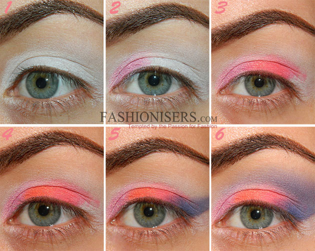 Soft Neon Rainbow Makeup Tutorial