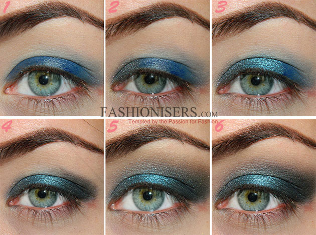 Tutorial on eye makeup