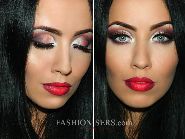 Marvelous Christmas Party Makeup Ideas Part - 1: Classic Christmas Party Makeup Tutorial With A Twist
