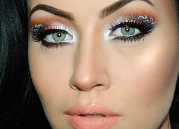 Lace Patterned Eye Makeup Tutorial