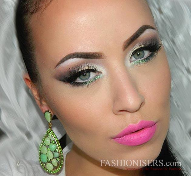 Glossy Gray Smokey Eye Makeup Tutorial