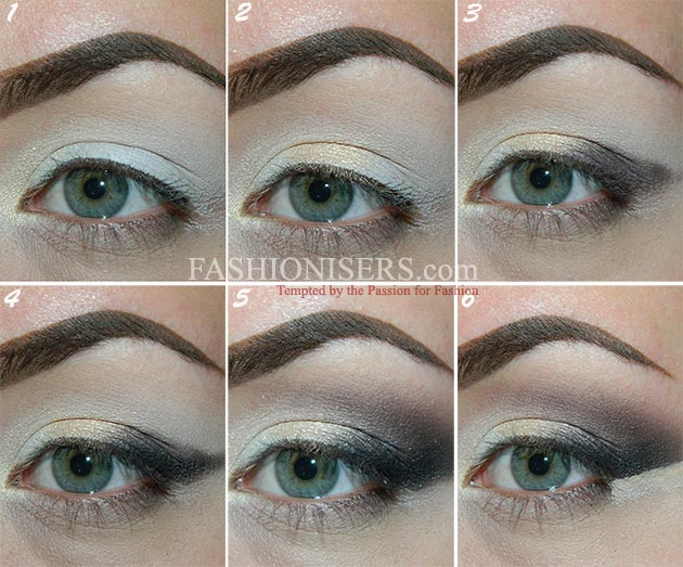 Glossy Gray Smokey Eye Makeup Tutorial