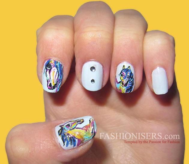 Cute Horse Nail Art Designs - Cute Horse Nail Art Designs Fashionisers