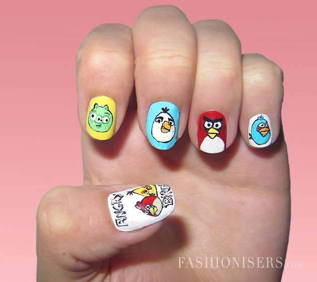 20 Cute Cartoon Inspired Nail Art Designs Fashionisers