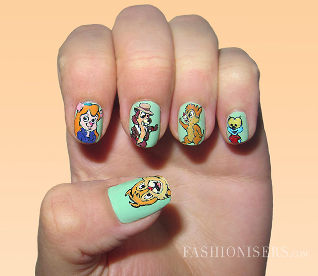 Girly Nail Art Designs: 20 Cute Cartoon Inspired Nail Art Designs