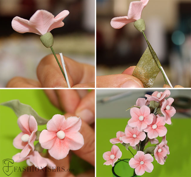 Gumpaste Cherry Blossom Flowers Tutorial