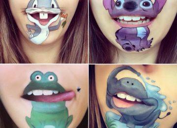Makeup Artist Laura Jenkinson Turns Her Lips Into Disney Inspired Art