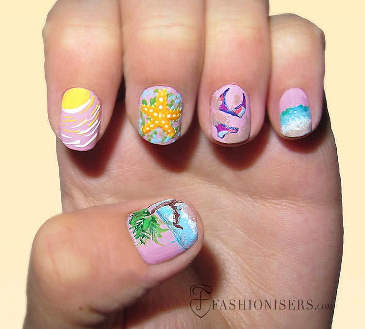 20 fun summer nail art designs fashionisers 20 fun summer nail art designs prinsesfo Gallery
