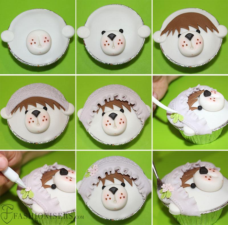 Bear Gumpaste Cupcake Decorating Tutorial