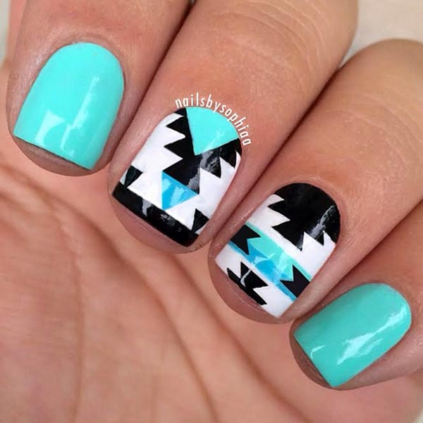 101 classy nail art designs for short nails fashionisers 80 classy nail art designs for short nails prinsesfo Images