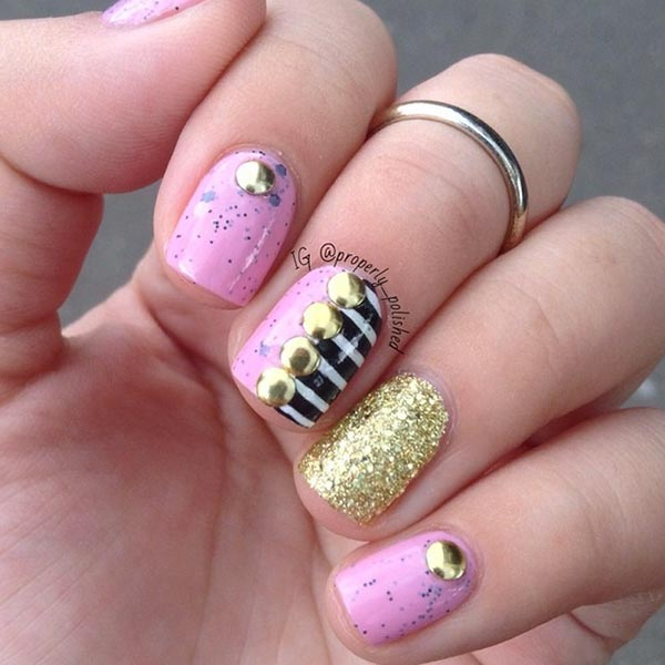 Nail Art For Short Nails At Home: 101 Classy Nail Art Designs For Short Nails