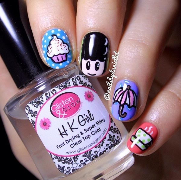 Girly Nail Art Designs: 101 Classy Nail Art Designs For Short Nails