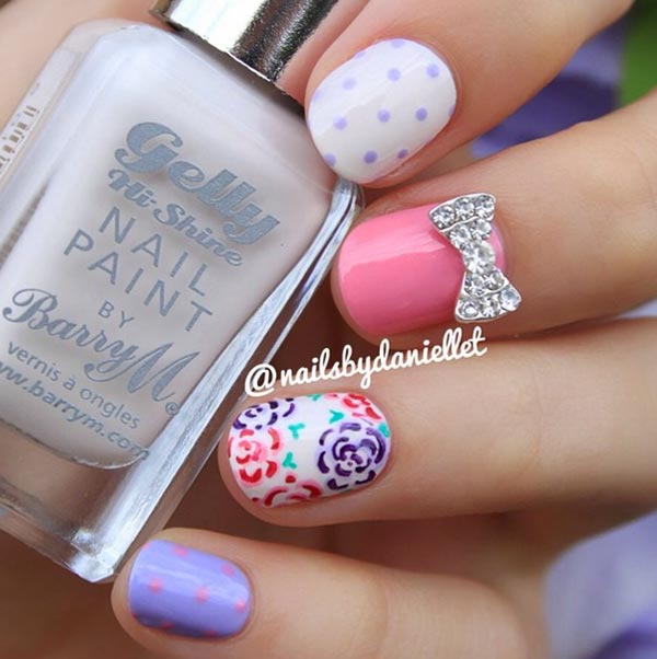 Nail Art For Short Nails: 101 Classy Nail Art Designs For Short Nails