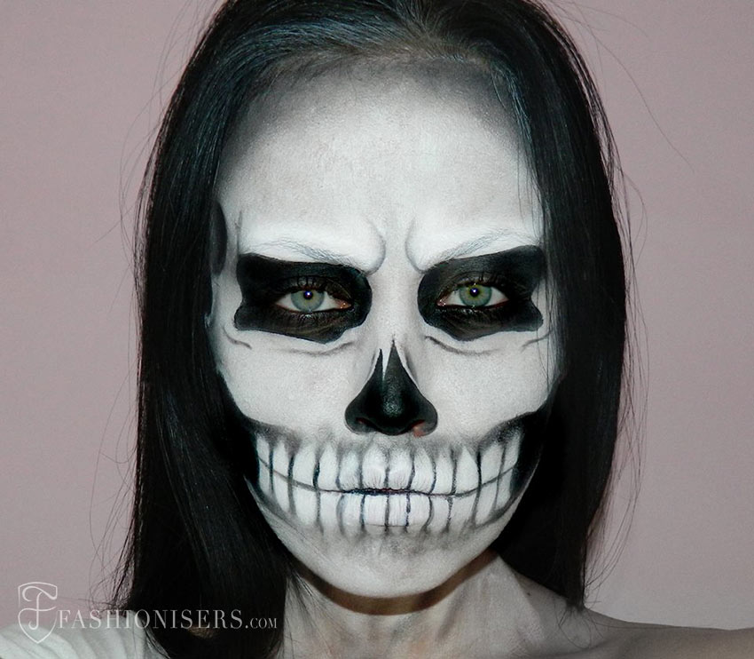 Lady Gaga Inspired Halloween Skull Makeup Tutorial | Fashionisers