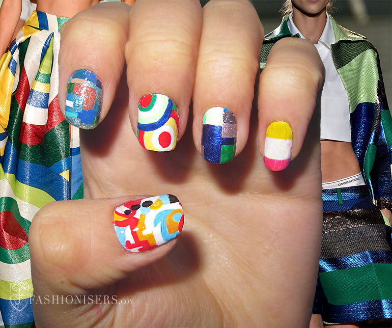 Nail Art Designs Inspired From Spring 2015 Runway: DSquared2