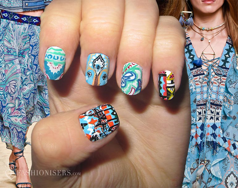 Nail Art Designs Inspired From Spring 2015 Runway: Etro