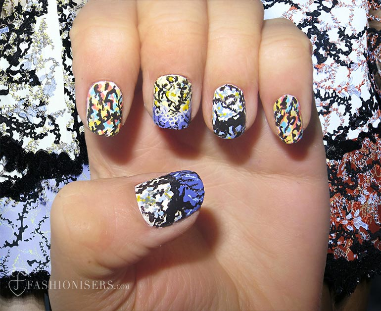 Nail Art Designs Inspired From Spring 2015 Runway: Mary Katrantzou