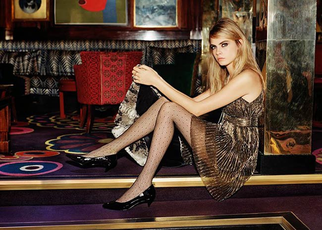 Cara Delevingne for Topshop Holiday 2014 Campaign