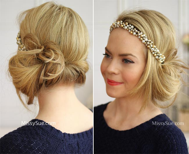 DIY Vintage Hairstyles Headband Tuck Flapper Hairstyle Tutorial