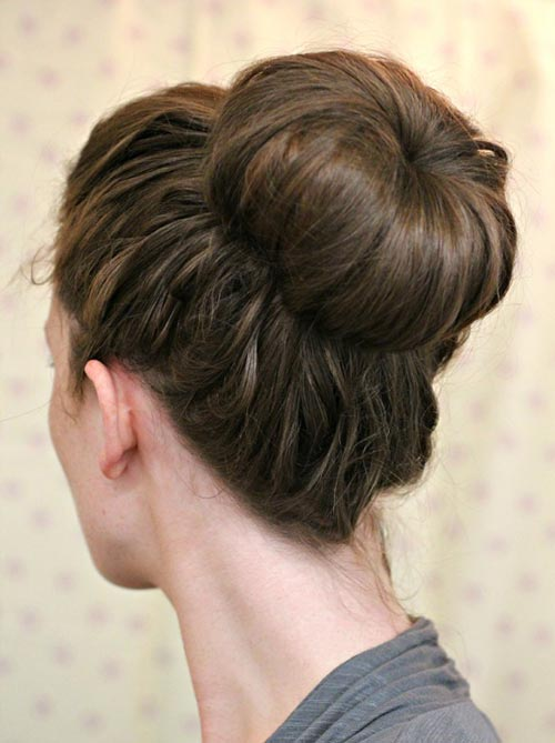 8 Easy and Cute Hairstyles for Lazy Girls: Sock Bun