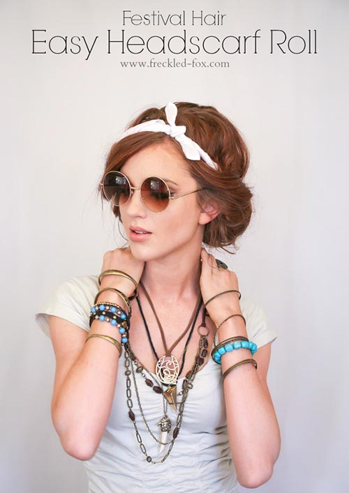 8 Easy and Cute Hairstyles for Lazy Girls: Headband Tuck