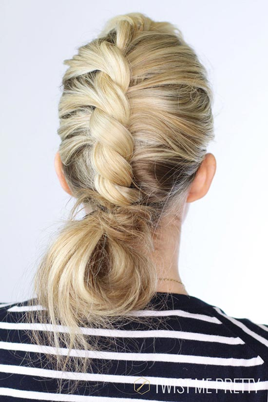 10 Pretty Hairstyles for Dirty Hair Days: Center Twist Bun