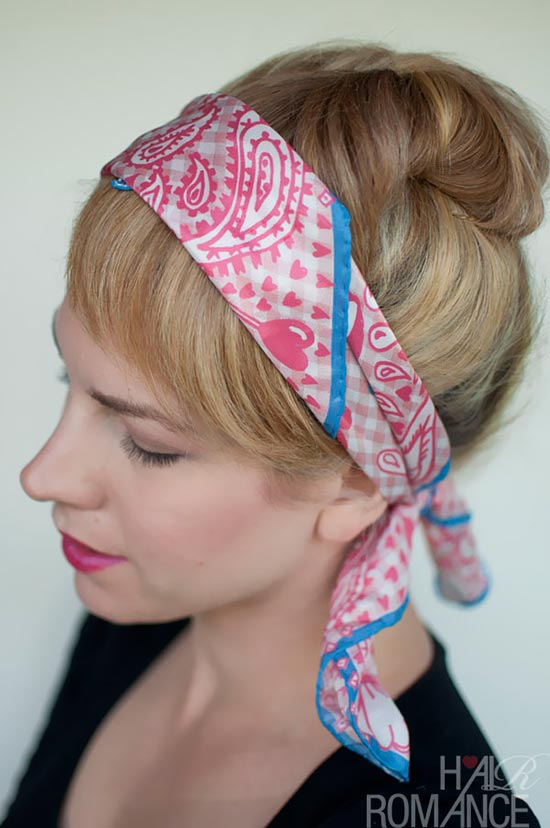 10 Pretty Hairstyles for Dirty Hair Days: Faux Fringe With Scarf