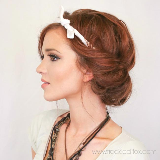 10 Pretty Hairstyles for Dirty Hair Days: Headband Roll