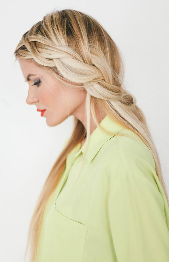 10 Pretty Hairstyles for Dirty Hair Days: Loose Dutch Braid