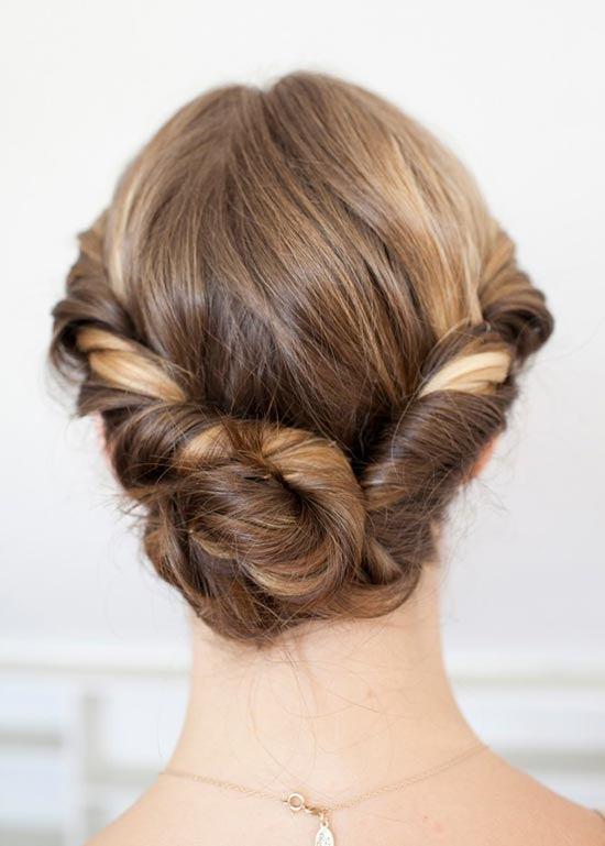10 Pretty Hairstyles for Dirty Hair Days: Twisted Bun