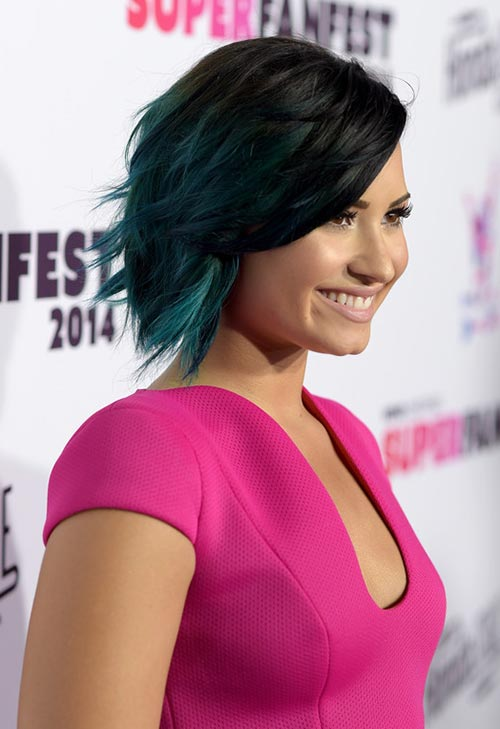 Pretty Pastel Hair Color Ideas: Demi Lovato