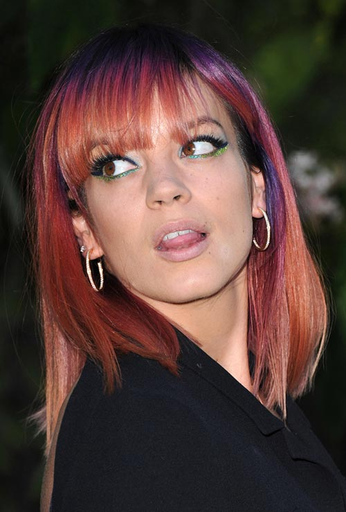 Pretty Pastel Hair Color Ideas: Lily Allen