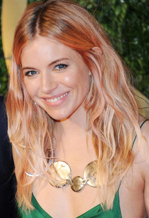 Pretty Pastel Hair Color Ideas: Sienna Miller