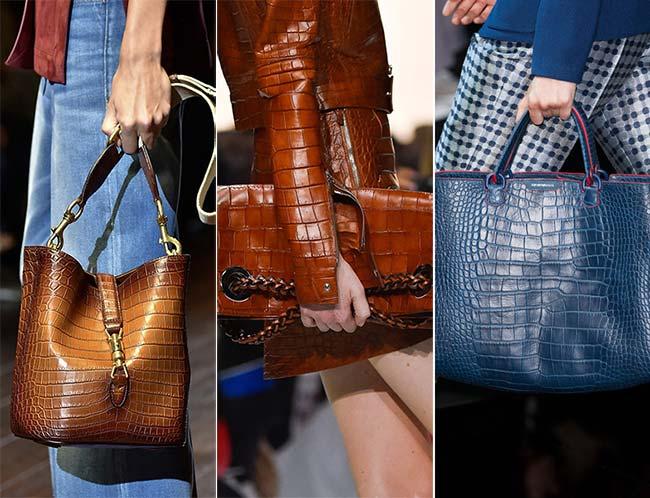 Spring/ Summer 2015 Handbag Trends: Reptile Skin Bags