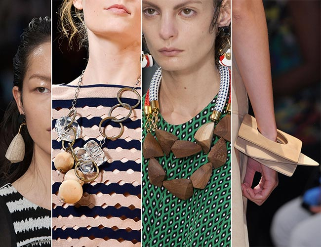 Spring/ Summer 2015 Jewelry Trends: Wooden Jewelry
