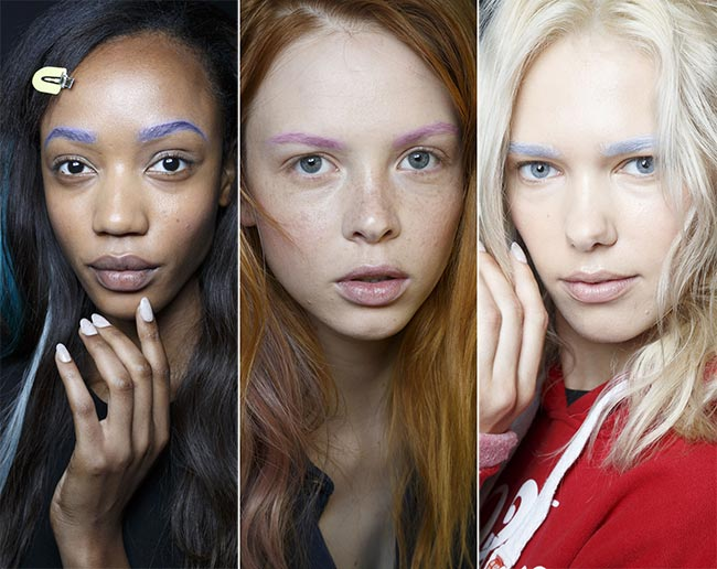 Spring/ Summer 2015 Makeup Trends: Expressive Eyebrows Colorfully Dyed Eyebrows