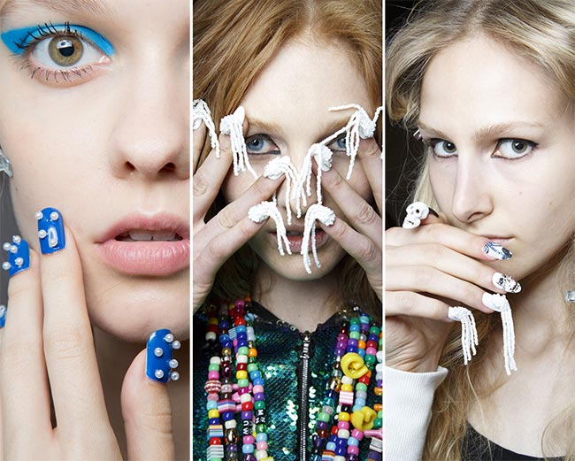 Spring/ Summer 2015 Nail Trends: Embellished and Bejewelled Nails