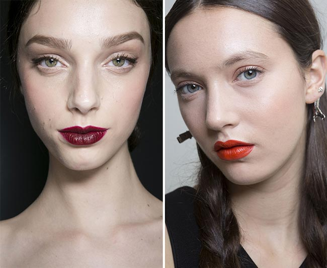 Spring/ Summer 2015 Runway Beauty Trends: Bright Lips