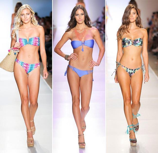 Spring/ Summer 2015 Swimwear Trends: Bandeau Bikinis