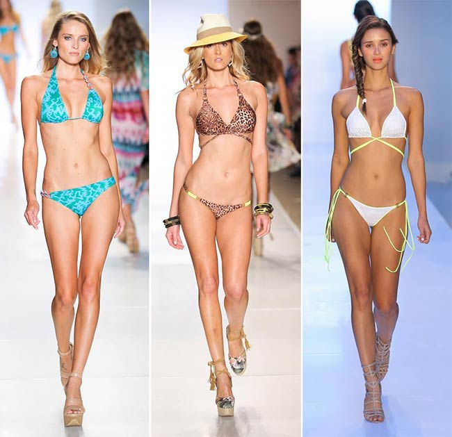 Spring/ Summer 2015 Swimwear Trends: Triangle Top Bikinis