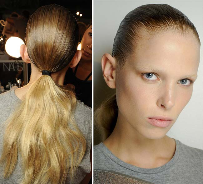 Spring/ Summer 2015 Trendy Ponytail Hairstyles: Alexander Wang Wavy Ponytails