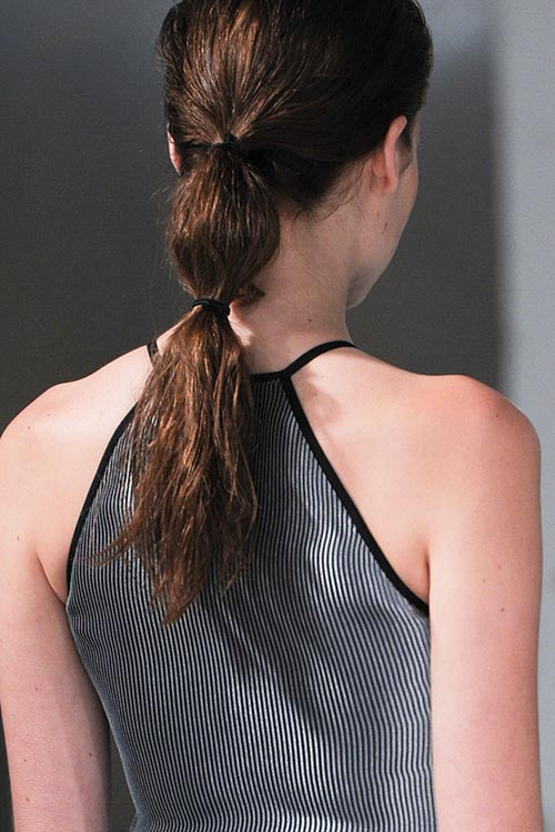 Spring/ Summer 2015 Trendy Ponytail Hairstyles: Barbara Casasola Bubble Ponytails