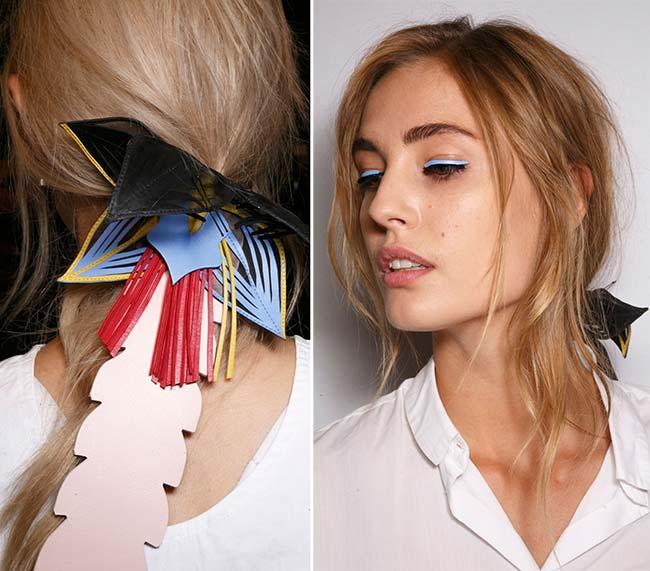 Spring/ Summer 2015 Trendy Ponytail Hairstyles: Fendi Undone Ponytails