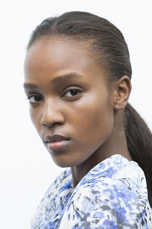 Spring/ Summer 2015 Trendy Ponytail Hairstyles: Giambattista Valli Bedhead Low Ponytails