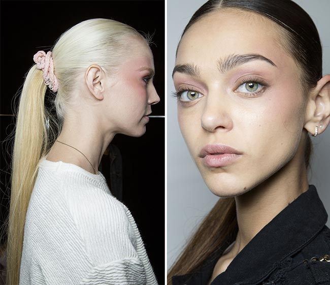 Spring/ Summer 2015 Trendy Ponytail Hairstyles: Pamella Roland Ponytails with Scrunchies