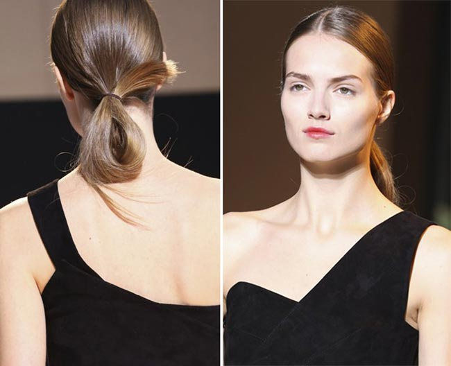 Spring/ Summer 2015 Trendy Ponytail Hairstyles: Roland Mouret Looped Ponytails