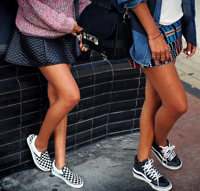 Stylish Ways to Pull Off the Skirts and Sneakers Trend